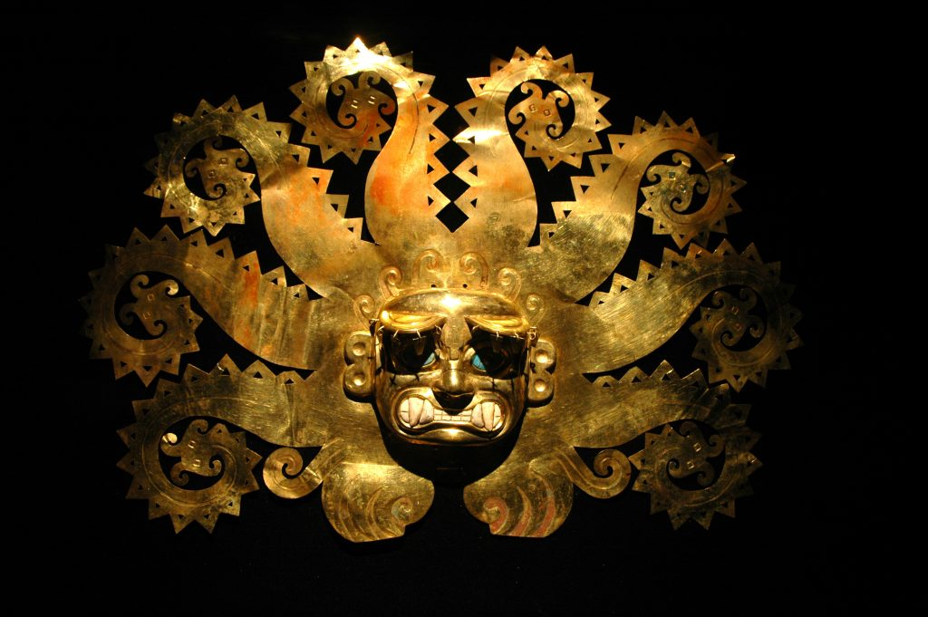 perles pierres monts & merveilles masque géant