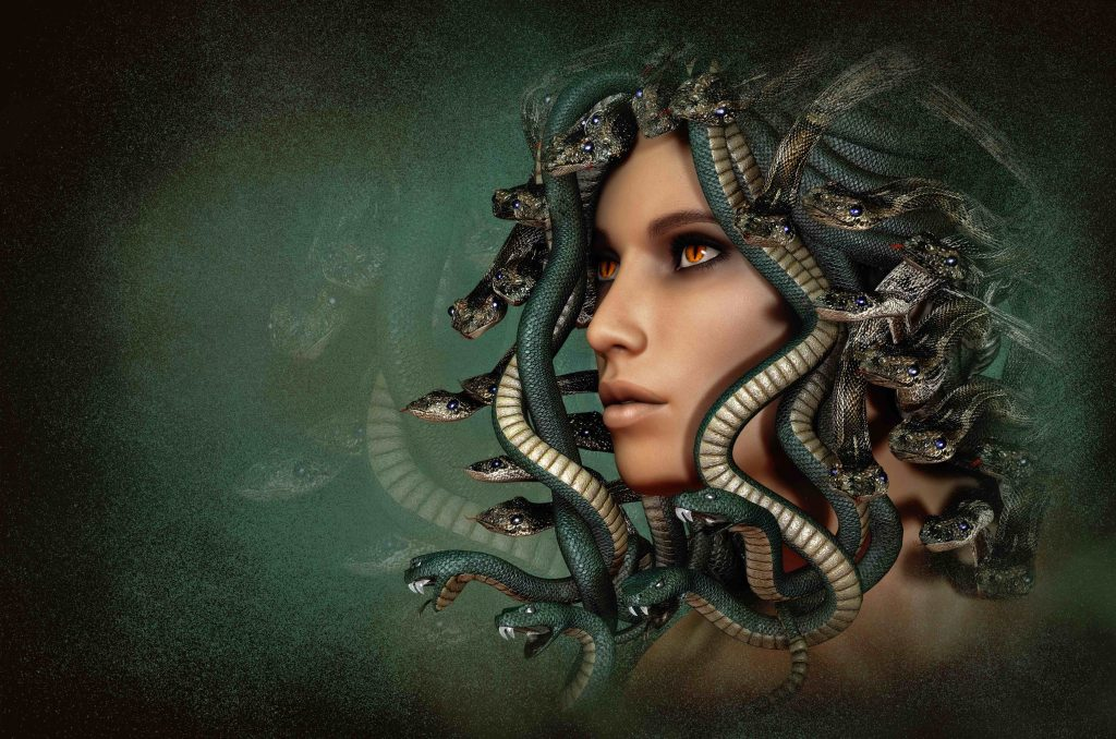 meduse medusa morgane perles pierres monts et merveilles