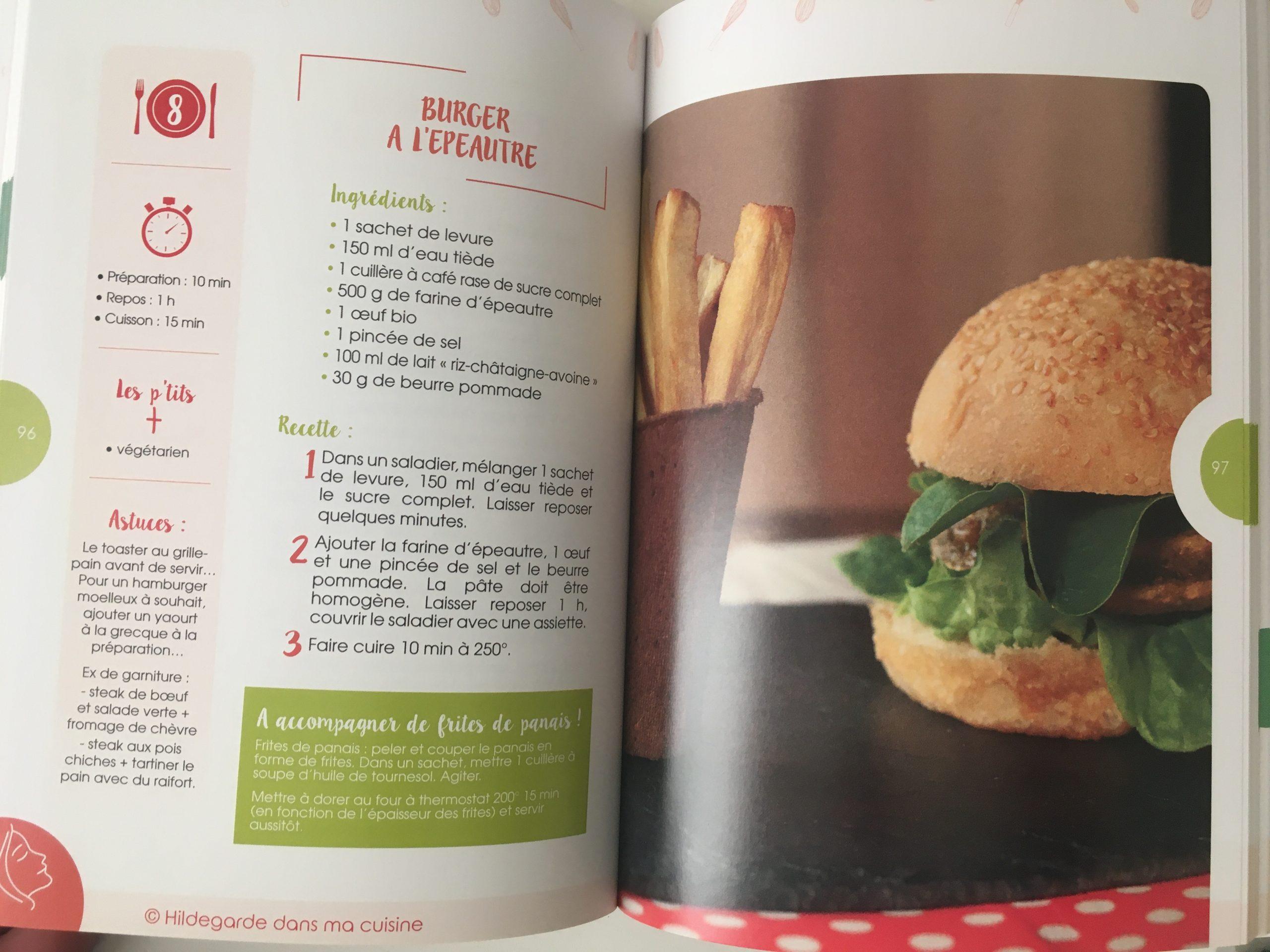 recette burger epeautre hildegarde