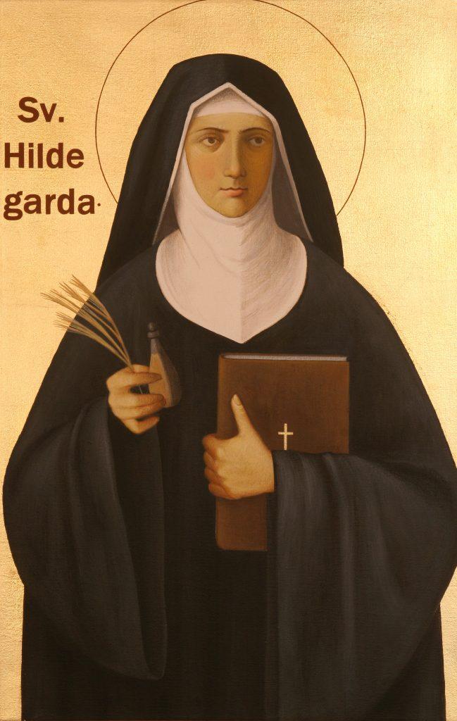 Hildegarde de bingen abbesse perles pierres monts & merveilles