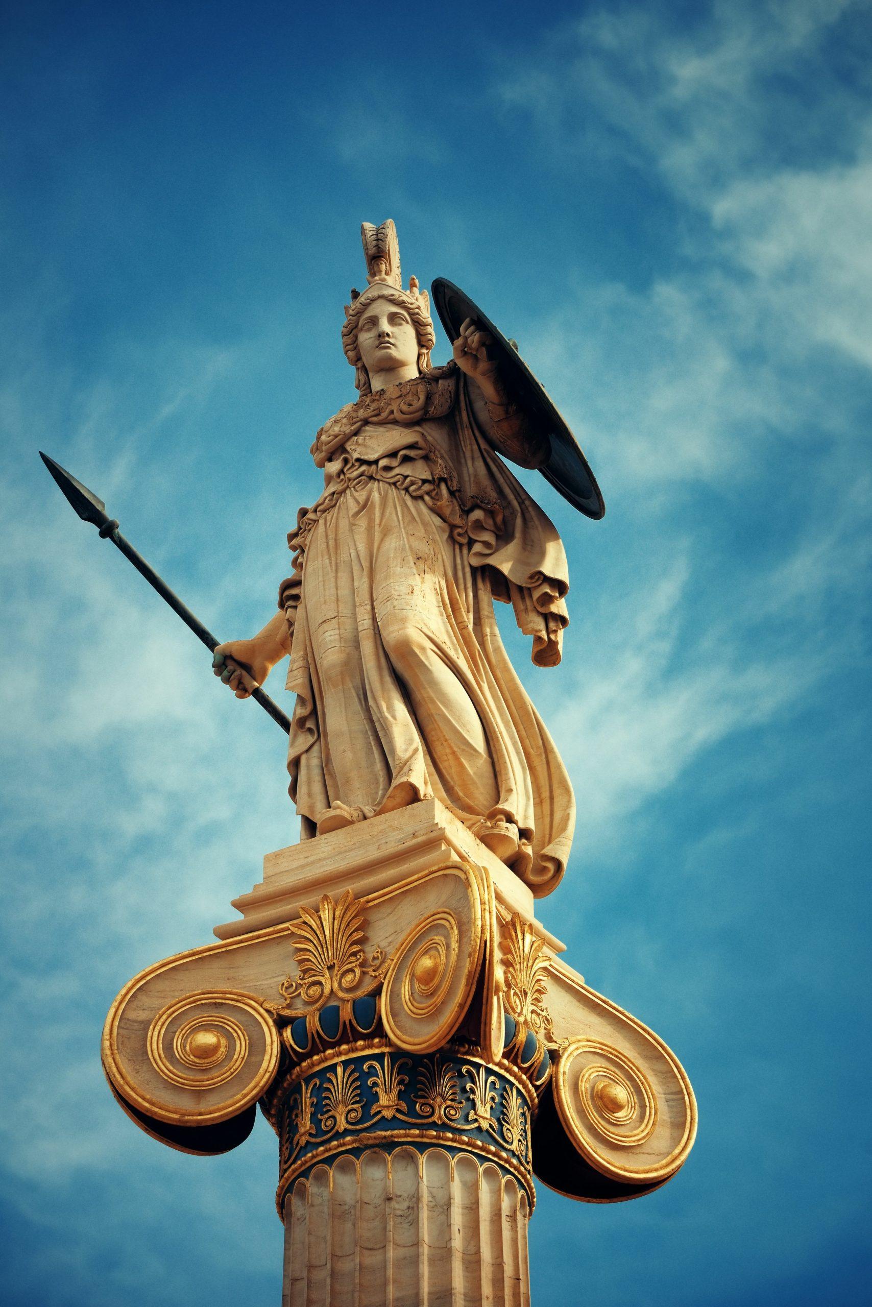 statue athena photo athenes guerre perles pierres monts et merveilles